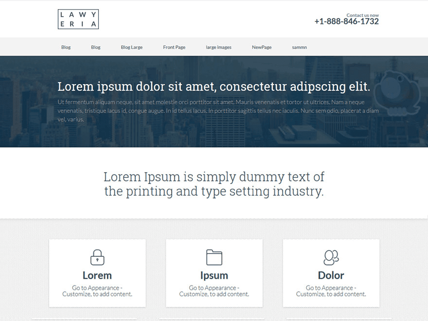 Lawyeria Lite - free corporate and business theme