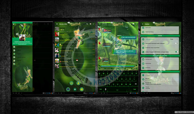 download BBM2 Mod Tema TinkerBell Apk Versi 2.13.0.26 Terbaru(Dual Clone)