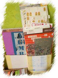 DIY rangement papiers et stickers