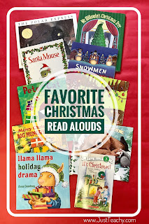 Favorite Christmas Read Alouds,  www.JustTeachy.com