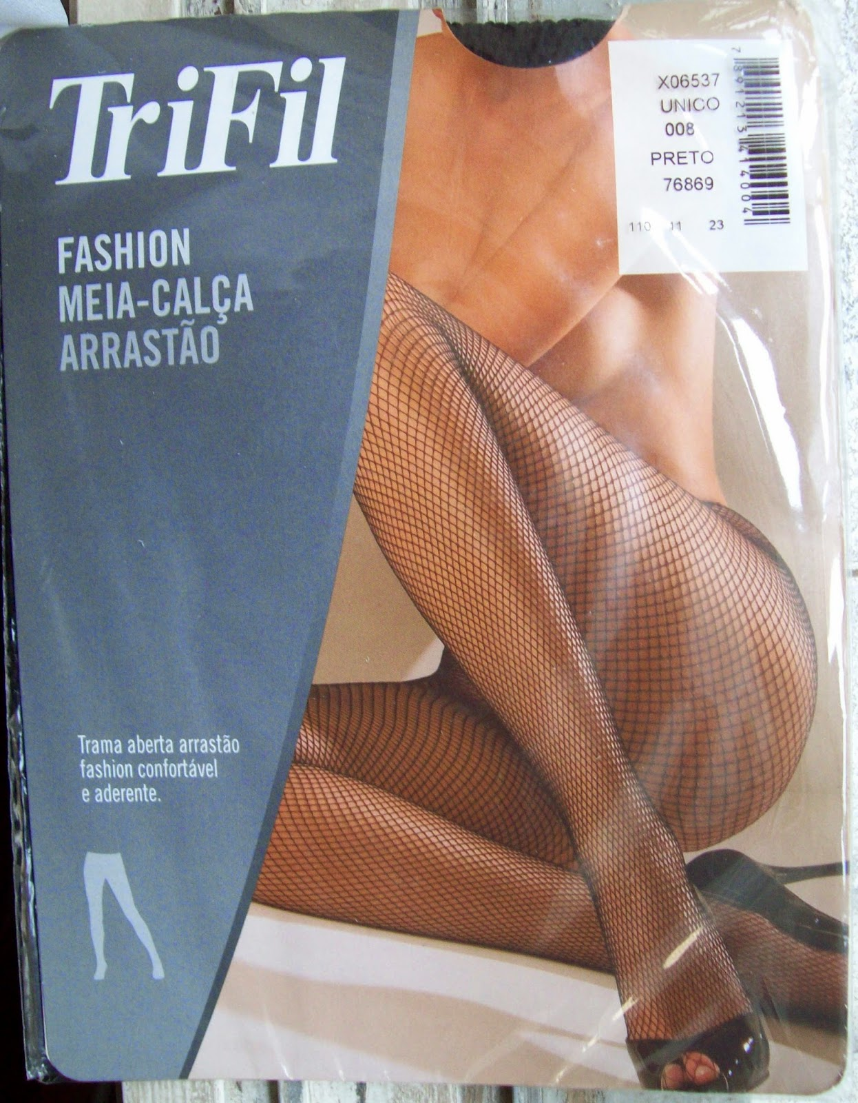 Meia-calça arrastão TriFil tamanho único