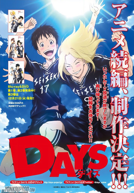 Days Saison 2, Studio Mappa, Actu Japanime, Japanime,