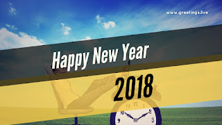 New Year wishes on time clock