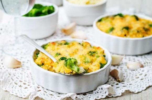 Gratinado De Brócoli Y Coliflor Con Queso