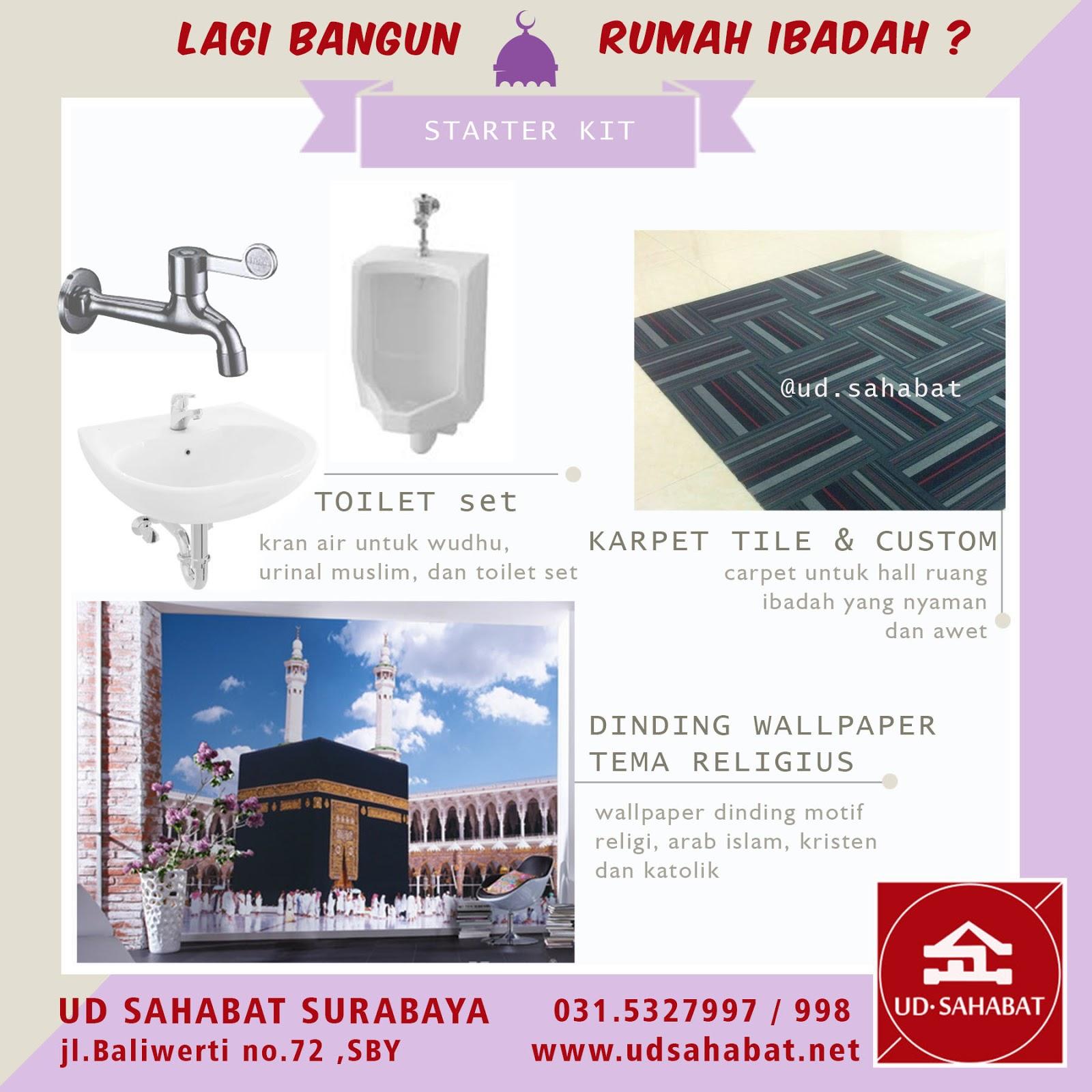 kontrakto jual bahan interior material bangunan masjid rumah ibadah surabaya