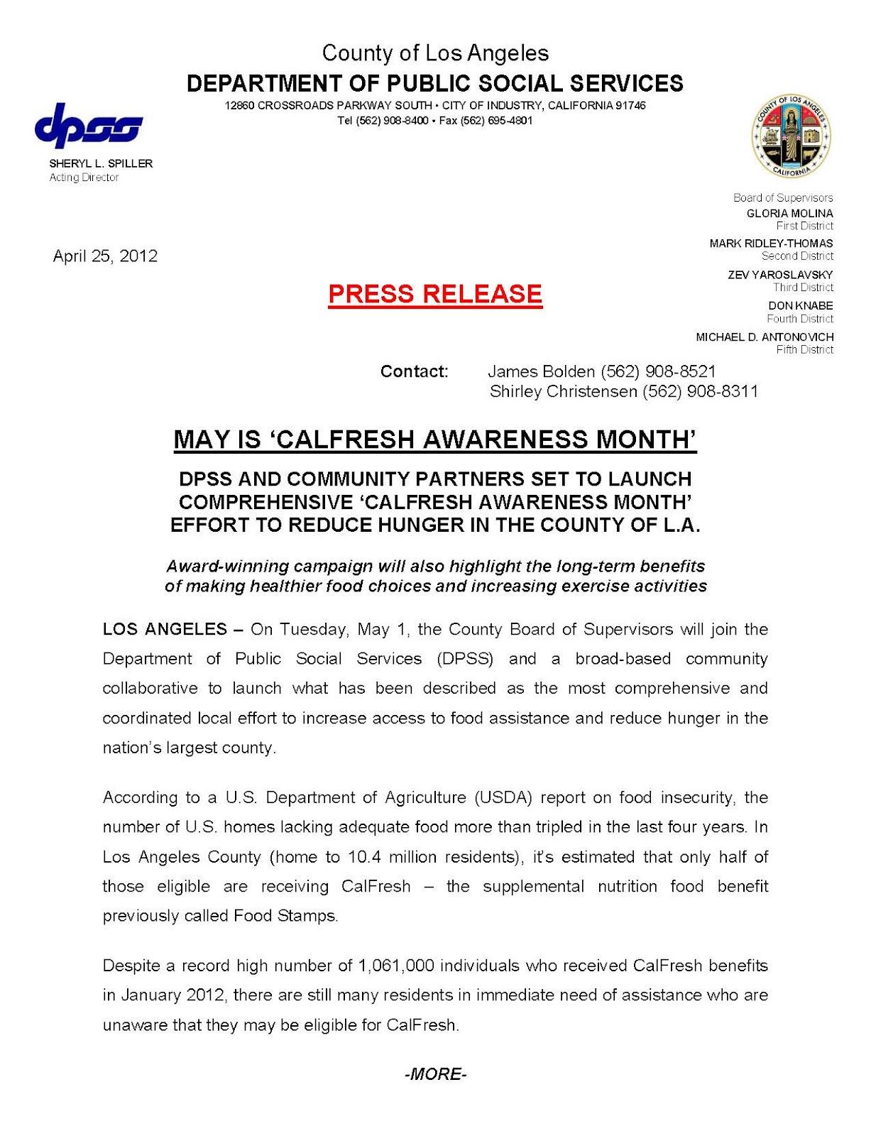 Calfresh Los Angeles Office