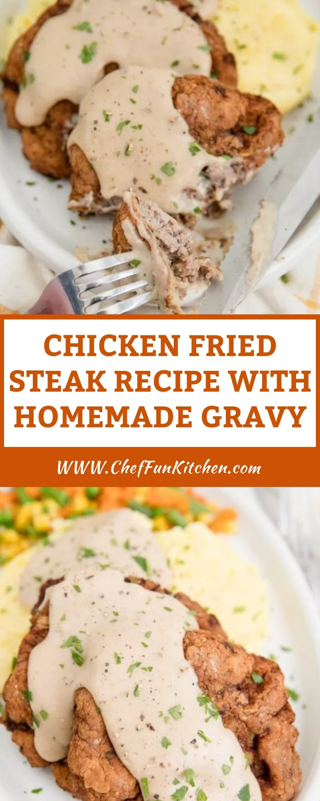 CHICKEN FRIED STEAK RECIPE WITH HOMEMADE GRAVY