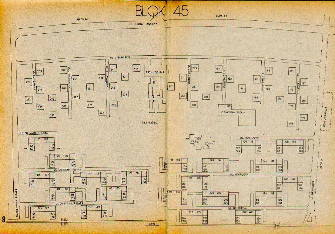 blok 45 mapa Blok 45: Stari projekti i mape blokova blok 45 mapa
