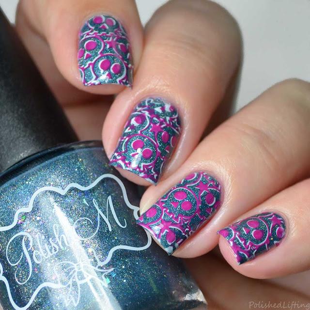 silly halloween skull nail art