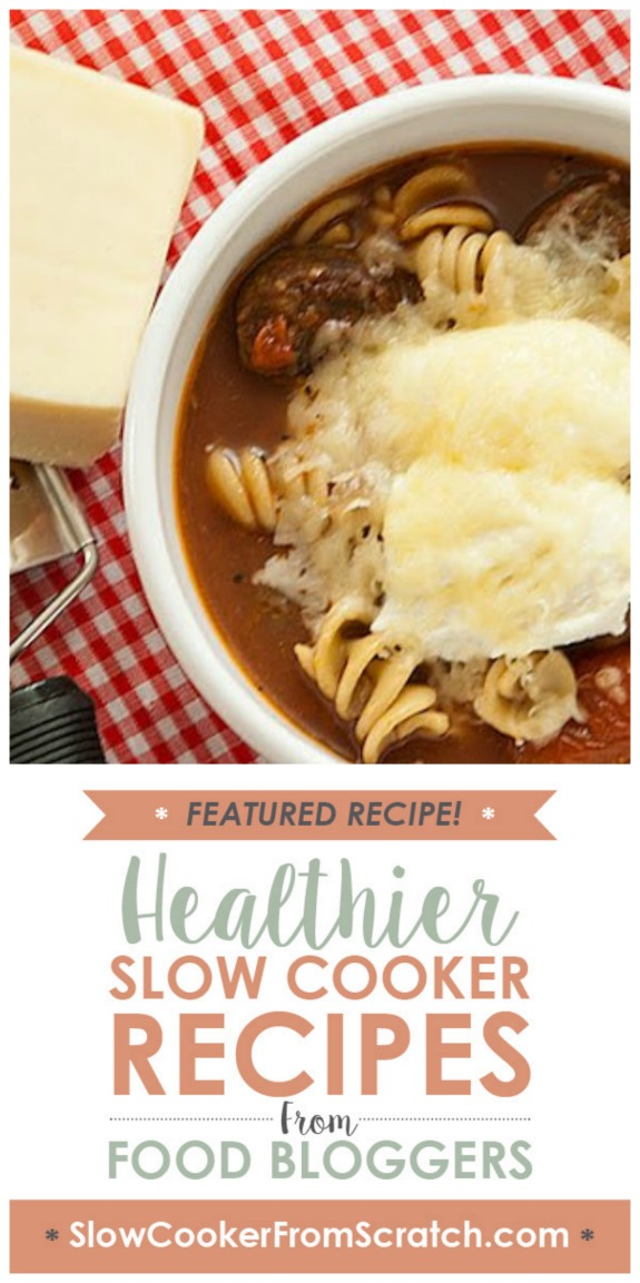 Slow Cooker Lasagna Soup from Real Mom Kitchen found on SlowCookerFromScratch.com