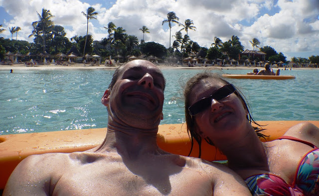 Dickenson Bay Antigua raft selfie