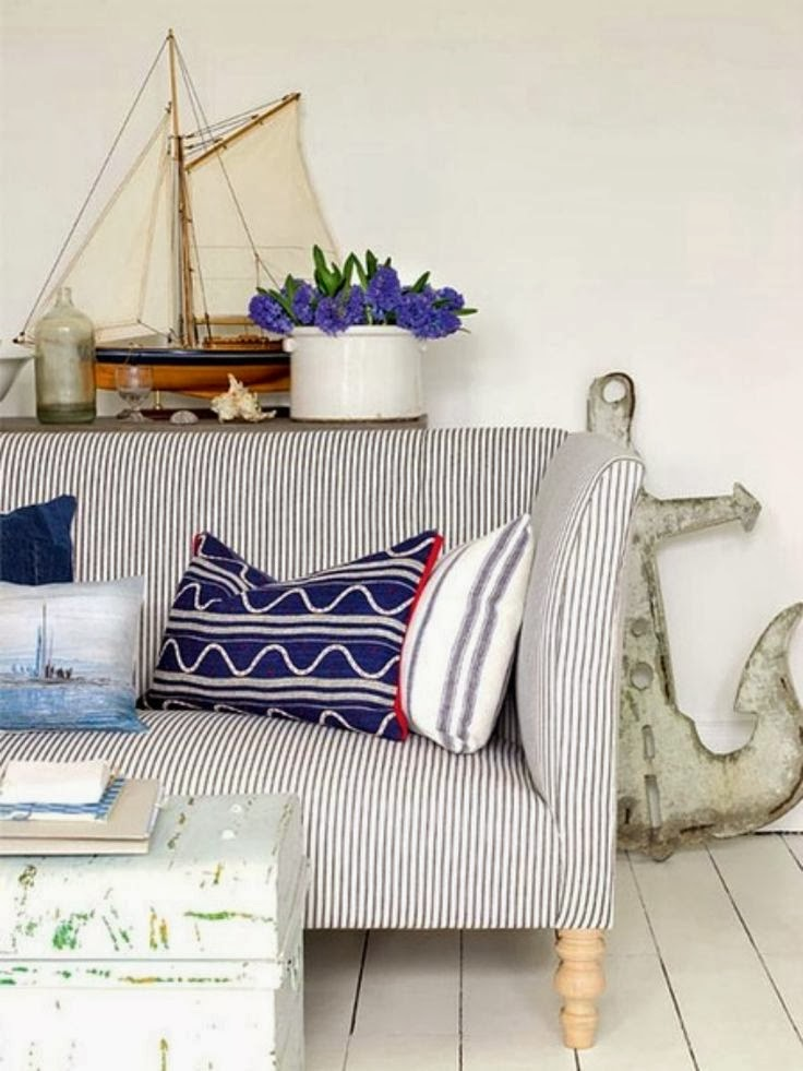 Eye For Design Decorating With Ticking Fabric