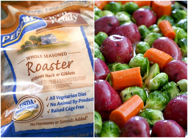 Ingredients for Oven Roasted Chicken and Vegetables with Mustard-Thyme Gravy | thetwobiteclub.com | #donatemeals #perduechicken #sponsored