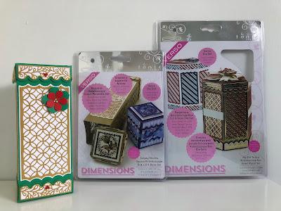 Medium square tonic studios kaleidoscope box with die sets