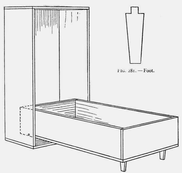 Folding-bed (open).