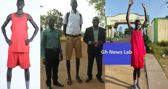 More photos of the tallest man in Ghana