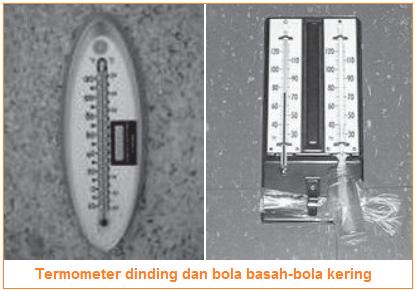 Alat pengukur suhu - termometer