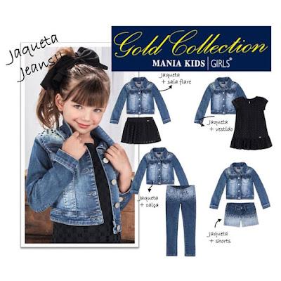 coleção outono inverno mania kids baby e kids gold collection