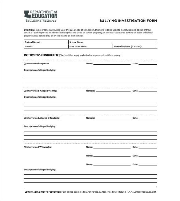 Private Investigator Report Templates Modern resume template ideas - criminal report template