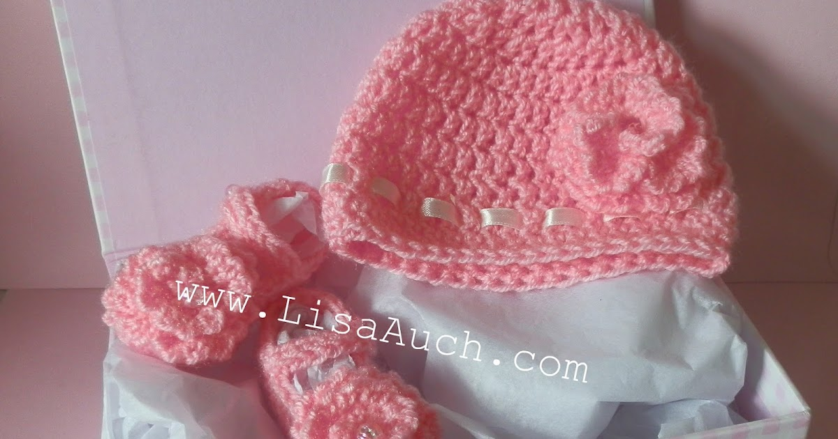 Free Crochet Patterns For Baby Hat And Baby Bootee Shoes