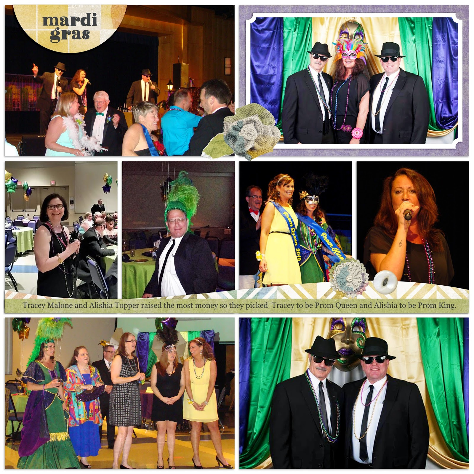 bdb086255c7 ... a Mardi Gras theme. Bill and Jim serenaded the queen candidates with