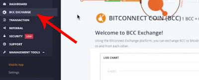 bitconnect exchange page
