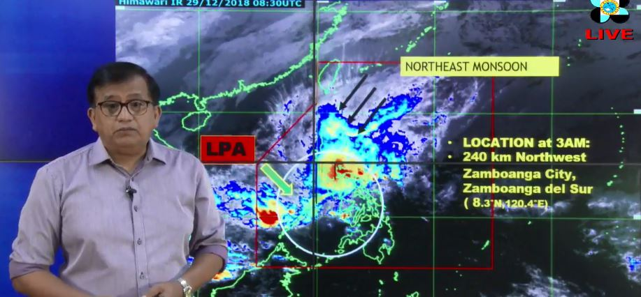 PAGASA weather update December 30, 2018