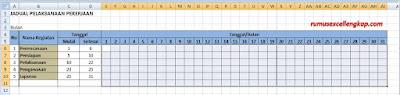 Contoh data membuat jadual kegiatan