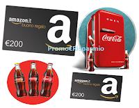 Logo Concorso ''Vinci con gusto'': in palio 200 buoni Amazon da 200€ e 50 Frigobar 50' Style Smeg