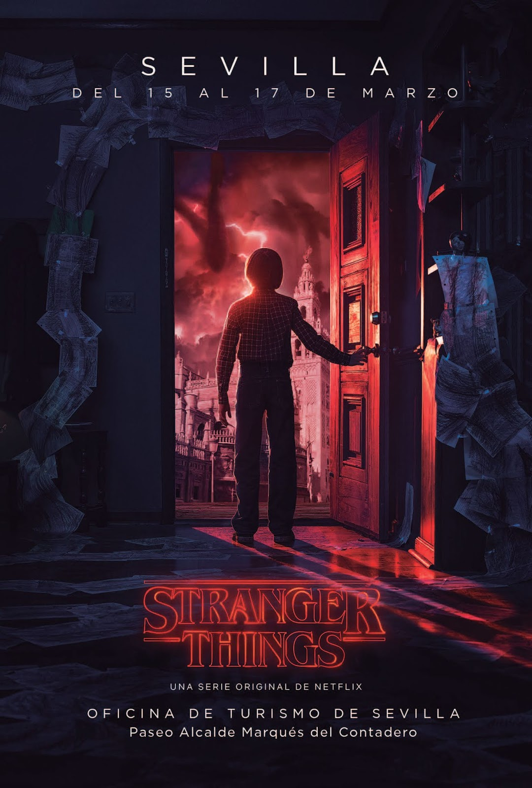 Cartel Stranger Things en Sevilla