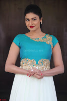 Anjena Kirti in Green and white Anarkali Dress Cute Makeup Latest Pics 012.JPG