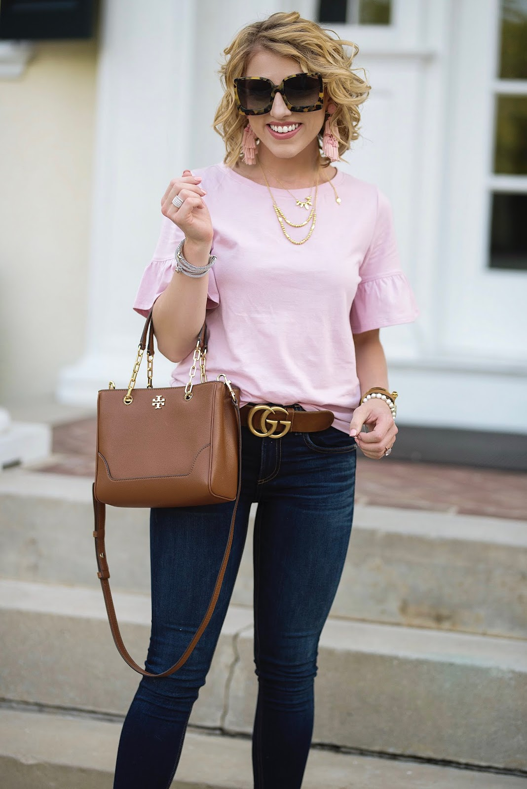 Nordstrom Anniversary Sale Under $30 Ruffle Sleeve Top - Something Delightful Blog
