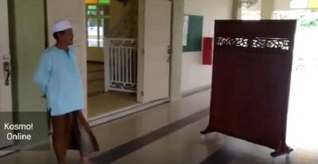 JAIM Tunjuk Bukti Punca Penghadang Di Masjid Boleh Bergerak Sendiri