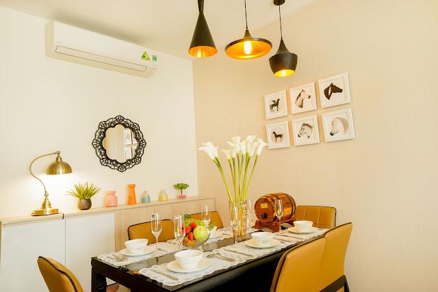 Thiết kế phòng ăn của căn 2 ngủ