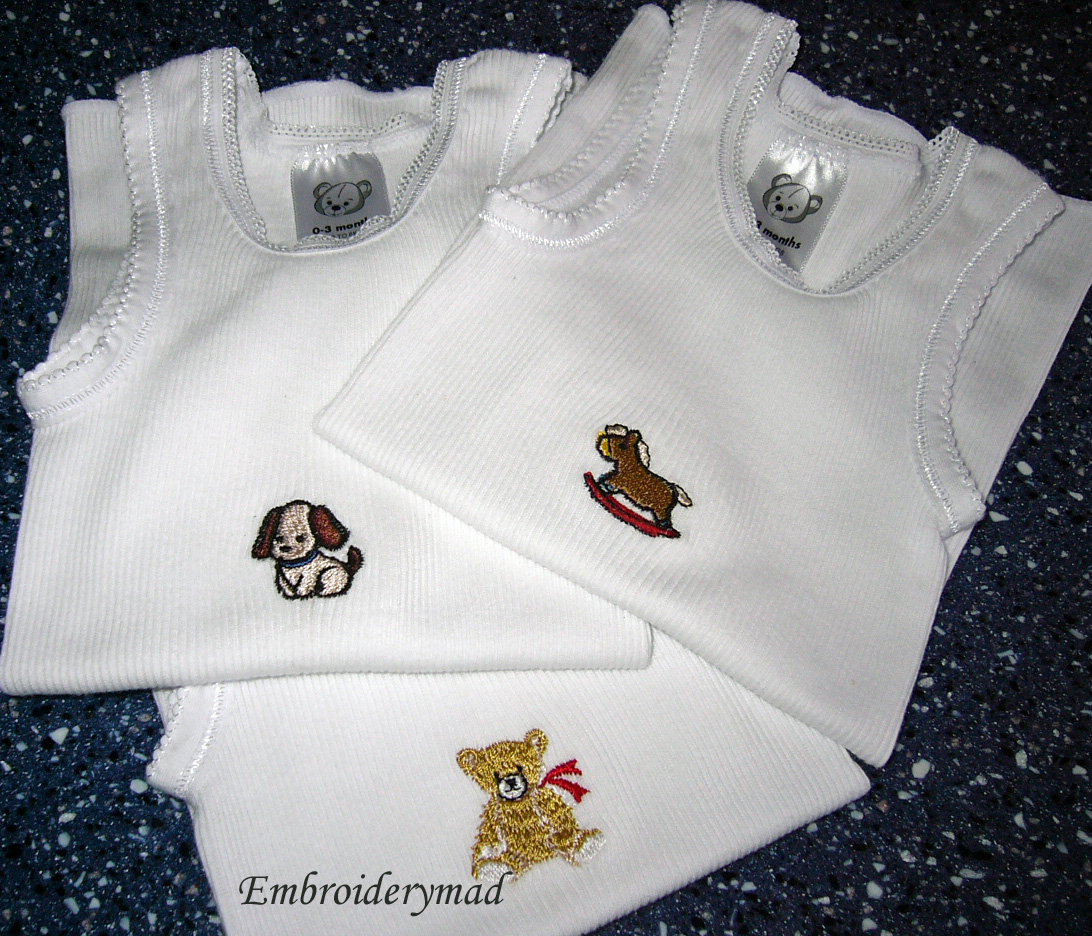 34da859830cc Embroiderymad  Baby Singlets!!!!!