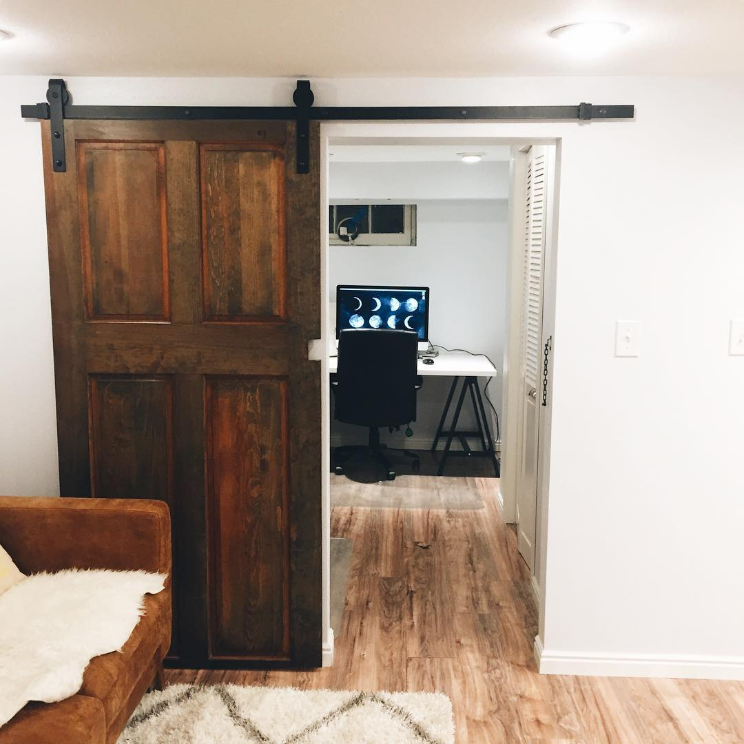 DIY Sliding Barn Door for less than $100