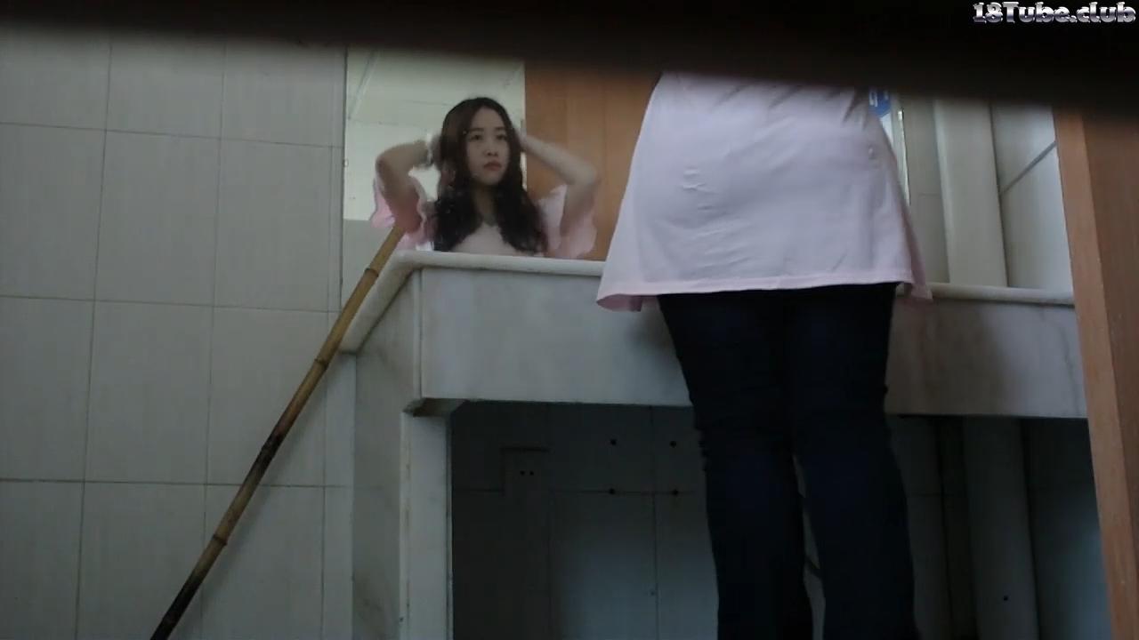 Girl the toilet spy tube