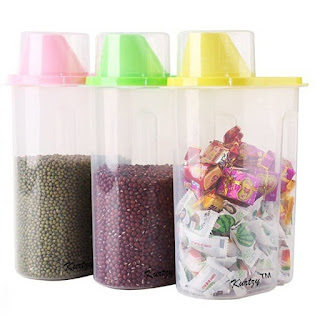 Amazon – Buy LMS Plastic Cereal Dispenser Jar Set, 2.5 Litres, Set of 3, Multicolor at Rs.304 with APay Balance