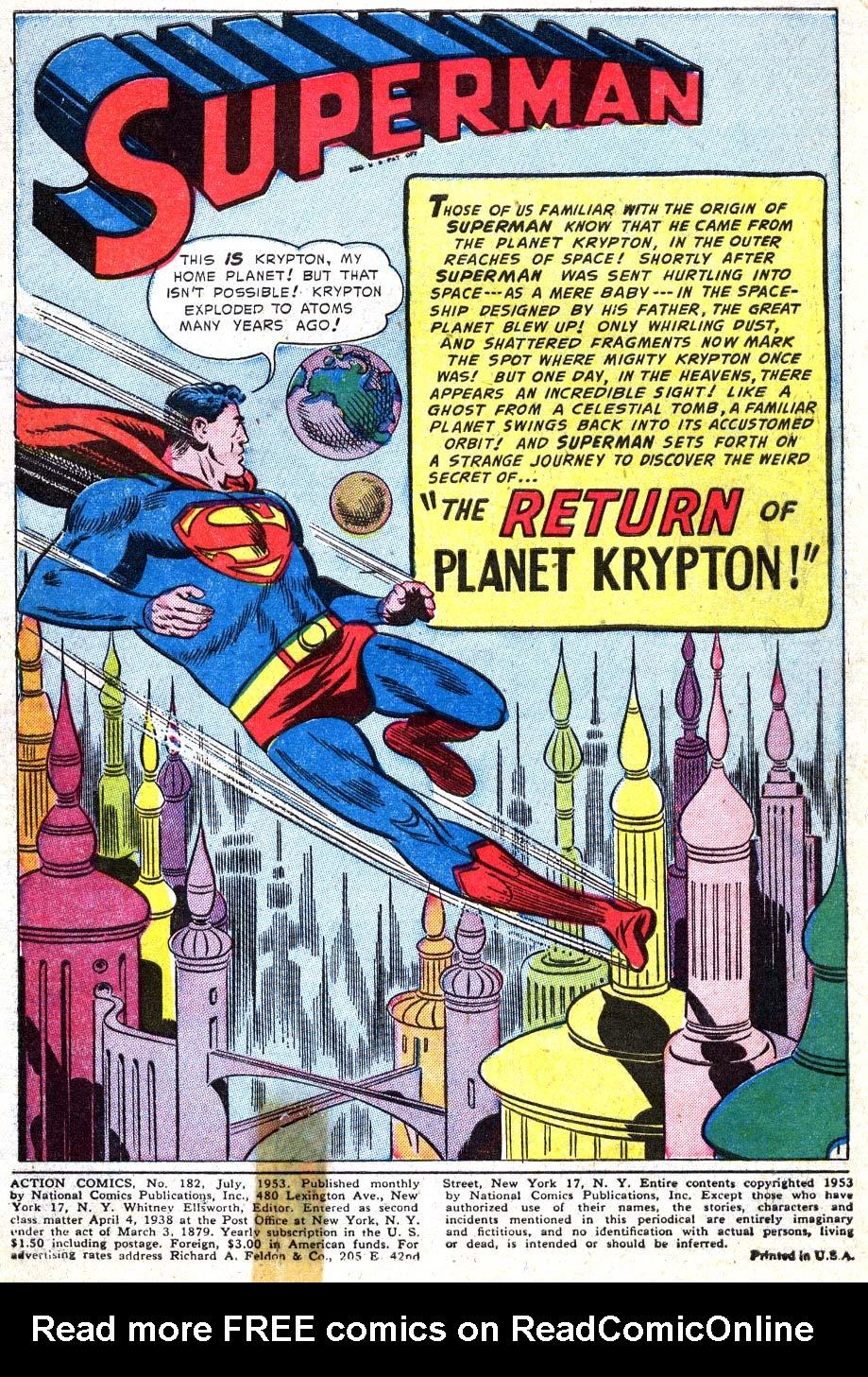 Action Comics (1938) 182 Page 2