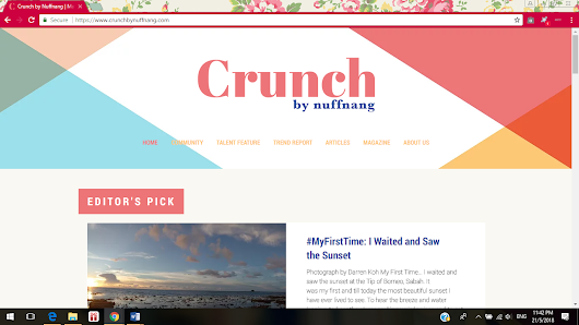 #MyFirstTime Article Got Published on Crunch!