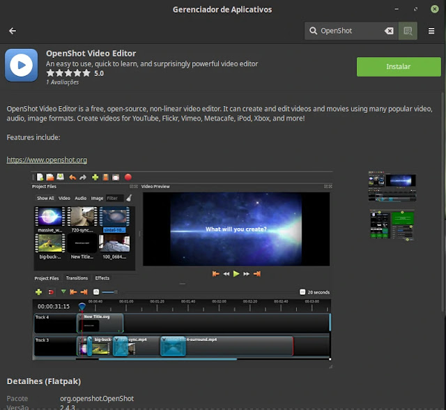 flatpak-mint-install-editor-video-openshot-linux-windows-mac