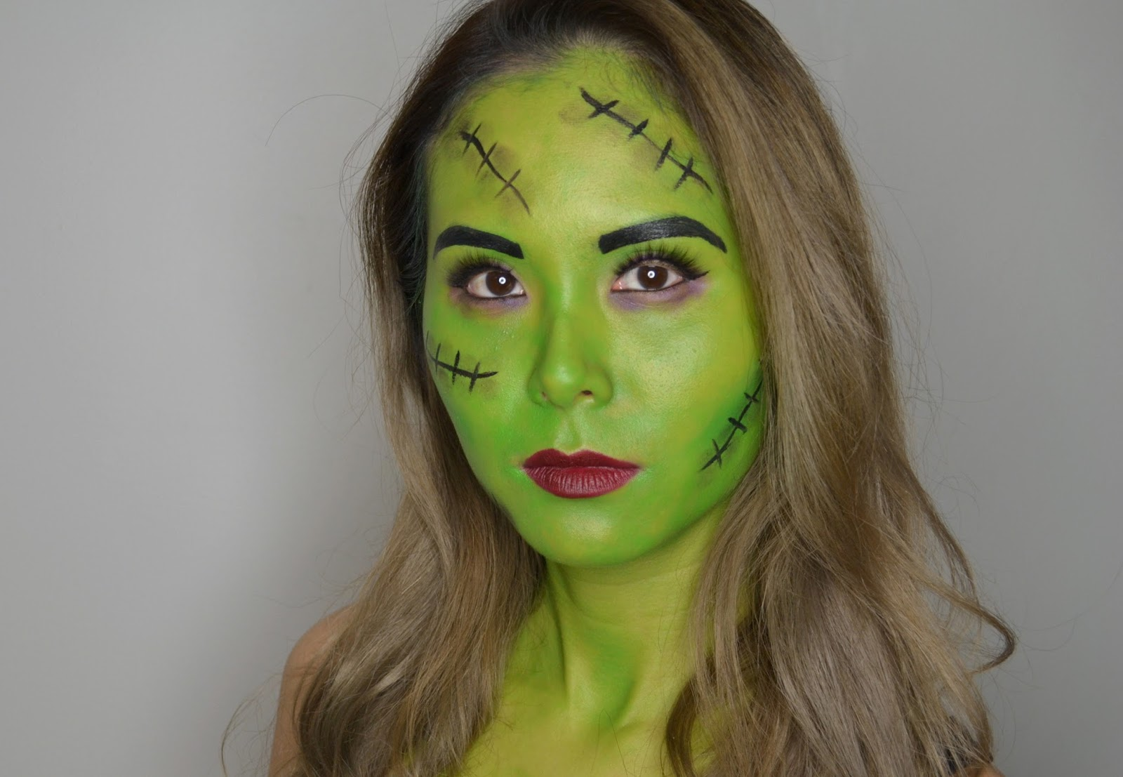 bride of frankenstein halloween makeup
