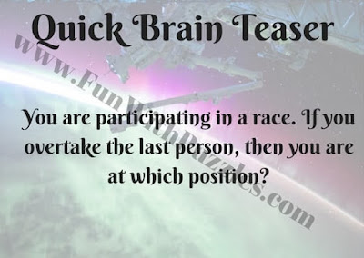 Quick Brain Teaser of Racing