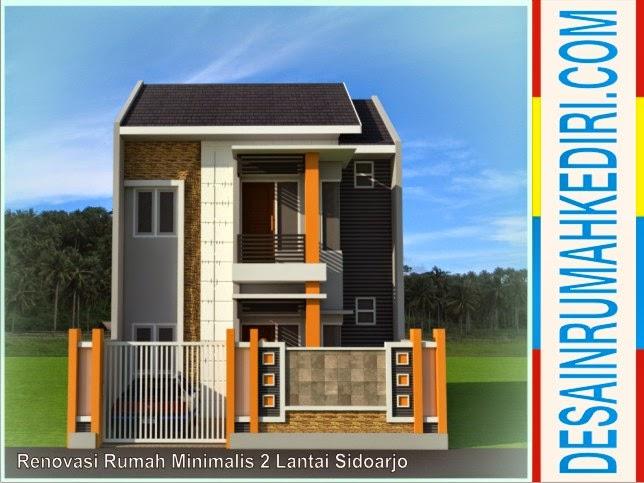 Desain Rumah Minimalis Dapur Di Depan  lt2 02 renovasi rumah minimalis 2 lantai bp oka sidoarjo