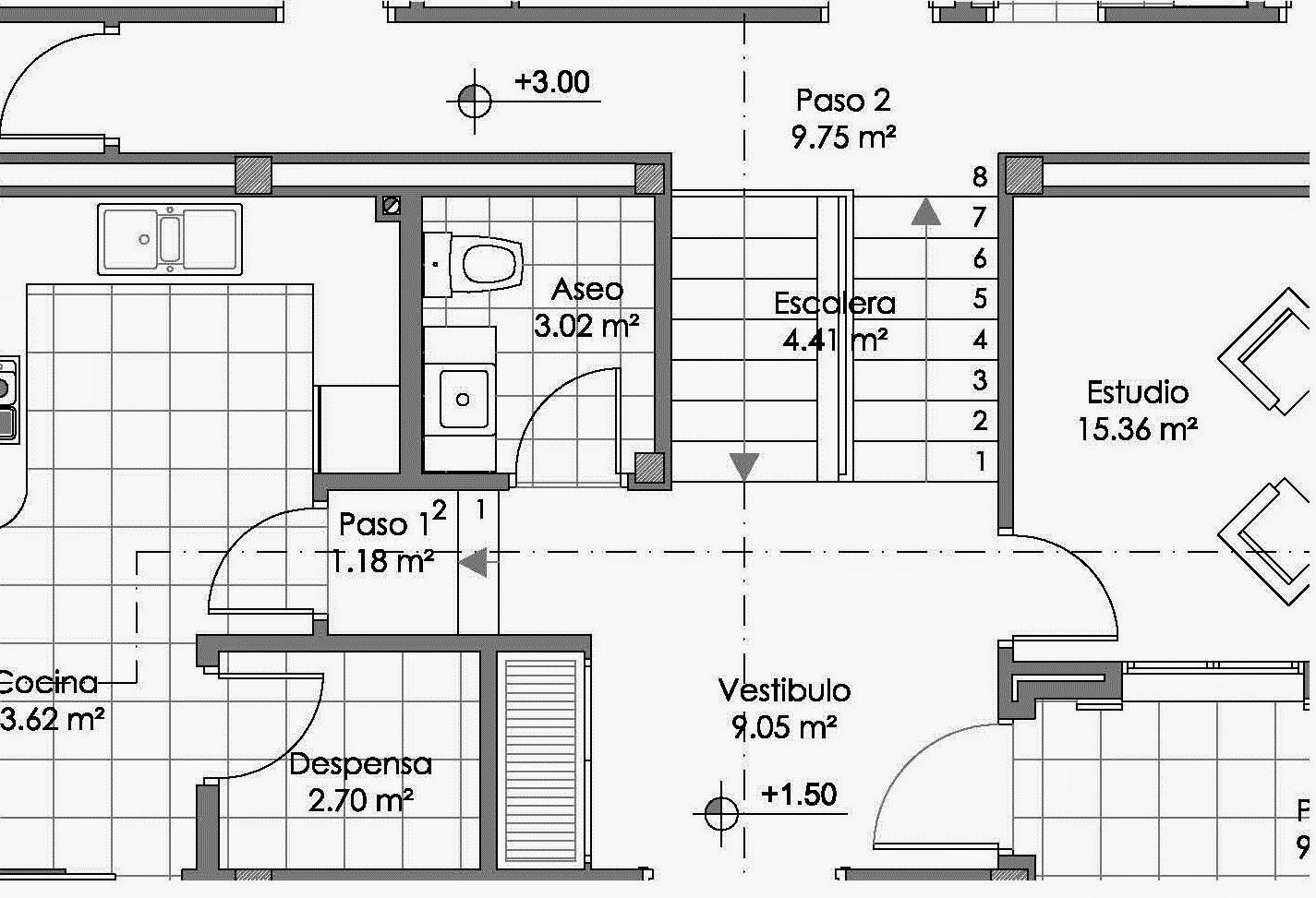 Rc i e s gran v a alicante proyecto 10 planos 7 8 y 9 for Representacion arquitectonica en planos