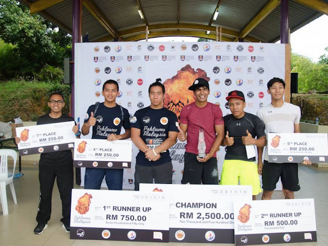FIRST SANCTIONED OBSTACLE RACE CHAMPIONSHIP, PAHLAWAN MALAYSIA