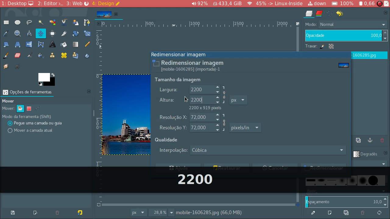Redimensionar a altura da imagem