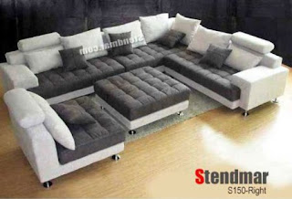 5 Pieces Modern Large Sectional Sofas
