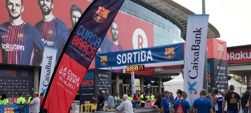 Ibrahim Ezzaidouny y Marta Galimany se hacen con la victoria en la Cursa Barça 2017