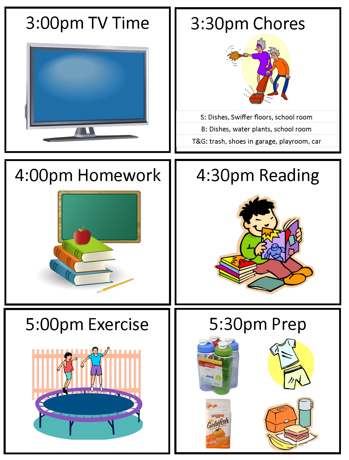 Everyday Is A Hollyday Kids Schedule For School Days